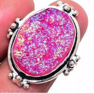 Jewelry - Pink 925 Stamped Ring